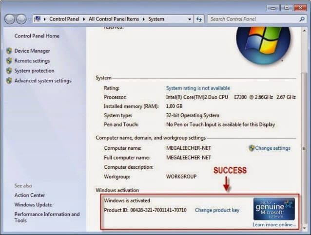 Windows 7 Ultimate Product Key With Full Crack